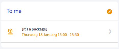 a package claiming to be delivered on thursday, january 18th